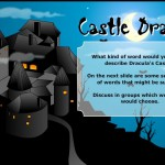 cartoon picture of dracula's castle